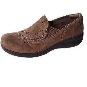 Aravon Revsolace Slip On Loafer Women 10 Leather